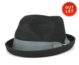 卡瓦列羅 Fedora 帽子卡薩雷斯葉片稻草秸稈黑帽子 CABALLERO FEDORA 帽子卡薩雷斯編織稻草黑 [大小男裝大草帽稻草秸稈帽子草帽草帽草編帽子]、 [BK] #HA: S