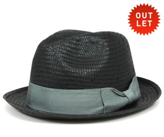卡瓦列羅 Fedora 帽子奧維耶多紙稻草秸稈黑帽子 CABALLERO FEDORA 帽子奧維耶多紙稻草黑色 [大小男裝大草帽稻草秸稈帽子草帽草帽草編帽子],[BK] #HA: S