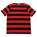 ショッピング ティージー カットソー バスク シャツ Tieasy Authentic オーセンティック HDCS BOATNECK S/S WIDE BORDER BASQUE SHIRT Americancolor Edition Black/Red ボートネック半袖ワイドボーダーバスクシャツ