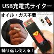 電子ライター USB電子ライター USBライター 電熱 充電式 USB充電式ライター 熱線ライター 防災グッズ 防災用品 ライター タバコ たばこ エコ ER-USBLT