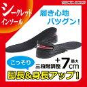 シークレットインソール 7cm 左右1組 メンズ レディース 3段階調整 3+2+ 2cm 中敷き エアインソール エアキャップ 身長アップ シークレット 靴 ...