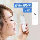 ハンディミスト 加湿器 スチーマー 小型 携帯 フェイススチーマー ミニスチーマー ハンディーミスト 保湿 補水 スキンケア フェイススチーマー フェイス スキンケア 乾燥 乾燥肌 敏感肌 脂性肌 潤い うるおい