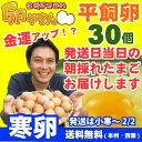 ★寒卵★平飼い卵30個