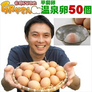 平飼い卵の温泉卵50個入