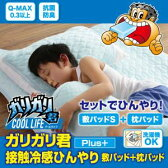 【代引不可】ガリガリ君【Plus】接触冷感ひんやり敷パッド&枕パッドセット