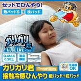 【代引不可】ガリガリ君【Premium】接触冷感ひんやり敷パッド&枕パッドセット