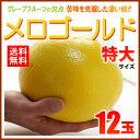 完熟メロゴールド 特大(12玉/約9.5kg)アメリカ産 グレープフルーツ メローゴールド 送料無料