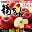 サンふじりんご 福ちゃん(3kg)青森産 糖度14度以上選果 特秀リンゴ 林檎