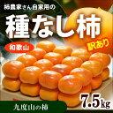 訳あり種なし柿(約7.5kg)和歌山九度山産 ご家庭用ワケアリ 送料無料