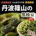 丹波黒枝豆(さや1kg)兵庫県丹波篠山産 黒豆 産地直送便 送料無料