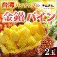 金鑚パイン(2玉/約2.8kg)台湾産 きんさんパイン 日本向け完熟栽培 パイナップル 送料無料【02P27May16】