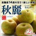 秋麗梨(6玉前後/2kg)熊本産 青梨の新品種 高糖度和梨 ...