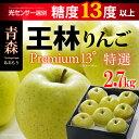王林プレミアム13(約2.7kg)青森産 リンゴ 林檎 青りんご 送料無料 お歳暮 ギフト