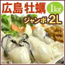 冷凍生牡蠣 2L(1kg/NET800g)広島産 加熱調理用 牡蠣 かき カキ【02P27May16】
