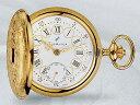 AERO 懐中時計 提げ時計 機械式手巻 金張りケース仕様ポケットウオッチ 片開き蓋 メカニカルウオッチ 送料無料