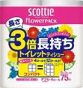 日本製紙クレシア スコッティフラワー 3倍長持ち 4R ダブル 4個