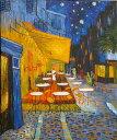 絵画ゴッホ『夜のカフェテラス』高級肉筆再現画 12号(50.0×60.6cm)額付