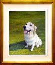 ★送料無料★  まるで本物のように!かわいいペットの 高級油絵肖像画・油絵・洋画 【15号サイズ(65.2×53.0cm)】