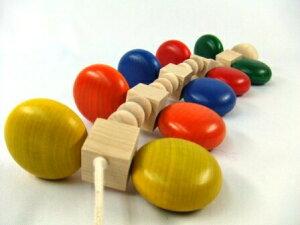 カラームカデ プルトイ 0歳 1歳 2歳 知育玩具 ひっぱ
