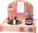 テーブルキッチン+ボードのセット 木のおもちゃ ままごと キッチン ミニキッチン 送料無料