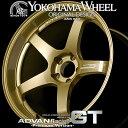 ヨコハマ アドバン レーシング GTプレミアム アルミホイール 18×8.5J 5/114.3 +51 レーシングゴールドメタリック+マシニングロゴ