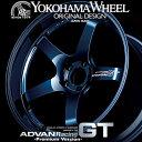ヨコハマ アドバン レーシング GTプレミアム アルミホイール 18×9.0J 5/114.3 +25 レーシングチタニウムブルー+マシニングロゴ
