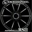 ヨコハマ アドバン レーシング RS2 RSII アルミホイール 18×8.5J 5/100 +45 セミグロスブラック