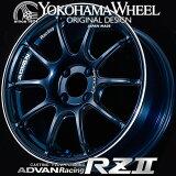 ヨコハマ アドバン レーシング RZ2 RZII アルミホイール 16×6.5J 4/100 +38 レーシングインディゴブルー&リング