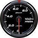 デフィ Defi レーサーゲージ (Racer Gauge) Φ60 ホワイト 圧力計 (油圧計・燃圧計)