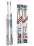 歯ブラシ ワンタフト ブラシ 磨きにくい部位を集中、操作性に優れたハンドル設計!ワンタフト 歯ブラシ ブラシ サンスター バトラーシングルタフト #01M/#01MH 2色アソート