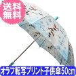 【送料無料】サンマルコ アナと雪の女王 オラフ転写プリント子供傘 50cm ブルー
