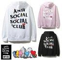 アンチソーシャルソーシャルクラブ(ANTI SOCIAL SOCIAL CLUB)×BT21 コラボスウェットパーカー ブラック ピンク ホワイト 防弾少年団 BTS ASSC【あす楽対応_関東】