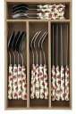 It is fs2gm Cath Kidston (Cath Kidston)  / knife, fork, 16 points (cotton Rose) of spoon / tableware [regular article] [smtb-m] [free shipping] [_ Kanto tomorrow for comfort] [YDKG-m] [I work on it newly in the summer in the spring of 2013]
