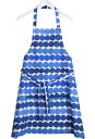 / blue white (RASYMATTO APRON) [regular article] with the marimekko (marimekko)  pattern apron pocket [_ Kanto tomorrow for comfort] [YDKG-m]