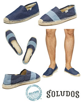 Soludos Barca Denim Rinse Original Canvas Shoes fs04gm