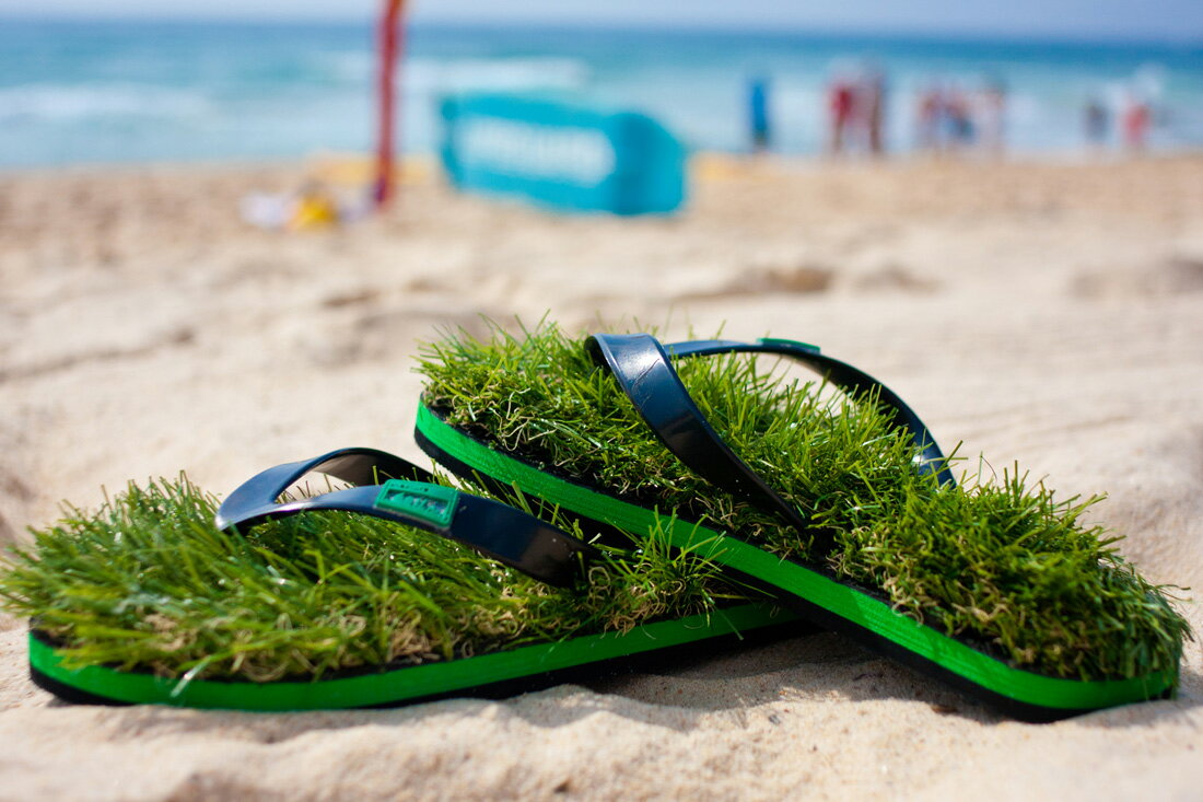 ... Global Market: KUSA Flip Flops Blood Orange / grass sandals P27Mar15