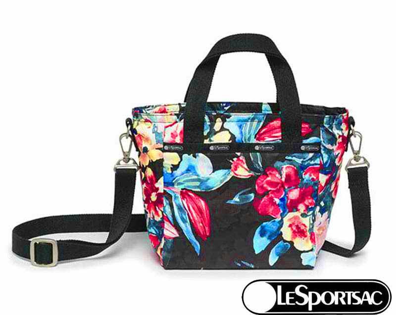 LeSportsac レスポートサック ナイロン SMALL LEISURE BAG A.I.R. 9785-R067 HAPPY HOME ハッピーホーム ミニボストン 2WAYショルダーバッグ