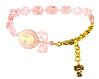 Necklace / scull cameo collar (pink) fs3gm for タリナタランティーノ (Tarina Tarantino) pets