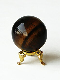 Uncut stone (circle ball) 3cm in diameter of the yellow tiger's eye (yellow tiger eye)
