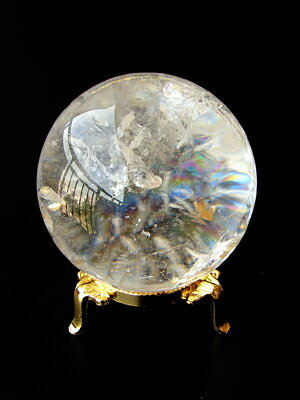 Differential diagnosis with natural Rainbow Super oversized ball quartz (7.5 cm in diameter) * weight 525 g sale