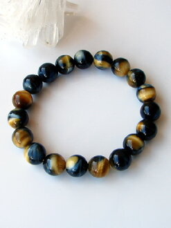 Rare zebra tiger eye bracelet 10mm ball