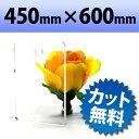 アクリル板(キャスト板) 透明-450mm× 600mm  厚み10mm