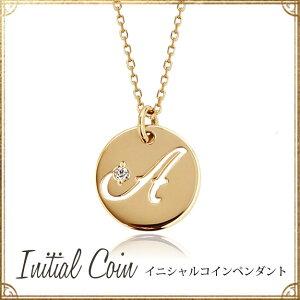 ゴールド ダイヤモンド イニシャル ネックレス ペンダント プレゼント オレフィーチ