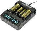 XTAR エクスター VP4 14500 18650 対応リチウムイオン IMR 電池 充電器 4ch独自スロット制御 4スロット バッテリーチャージャー 高速 急速 USB充電器 充電池 IMR マルチサイズ対応 Li-ion ニッケル水素電池 送料無料