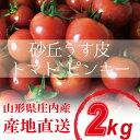 【山形県 庄内産 】 砂丘うす皮トマト ピンキー2kg(1kg×2)お子様でも食べやすい!