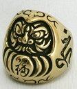 鬼銀彫 真鍮独特の経年変化が楽しみ!!『福達磨真鍮リング』OG-08(Ring)