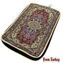 Aladdin|魔法のランプ|空飛ぶ絨毯|アラジン|トルコ|トルコ土産|トルコみやげ|トルコお土産|トルコおみやげ|トルコ雑貨|ポーチ|タブレットPCアクセサリー|小物入れ|化粧ポーチ|絨毯柄の大きなポーチ07