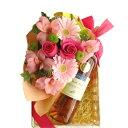 母の日のお花ギフト フレッシュなピンク色のフラワーアレンジメント 南フランス ラン