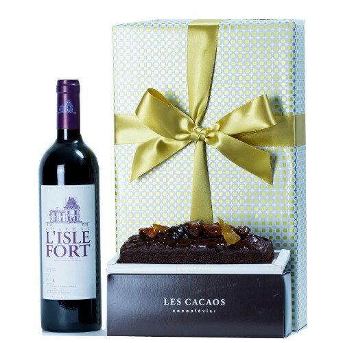 ワインチョコレートケーキプレゼントフランスボルドー赤ワイン「シャトー・リスル・フォール」2009年辛