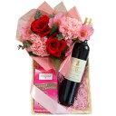 母の日 プレゼント 花 アレンジメント スイーツ 赤ワインと...